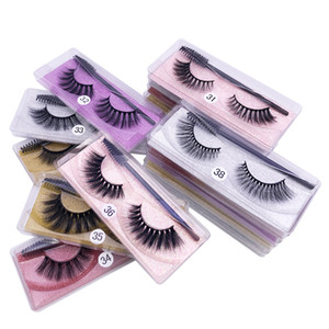 3D Mink Eyelashes Wholesale 10 Styles 3d Mink Lashes Natural Thick Fluffy Mink Lashes Extension Makeup Soft Fake Eye Lashes with Tweezer Set