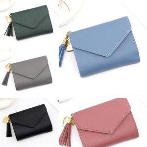 G1VX Luxurys Real Girl Umschlag Brieftasche Brieftasche Mode Frauen Handtaschen Designer Leder Rosa Handtaschen Geldbörse Karten Tasche Schwarz Mini Farben