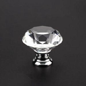 Ручка винтовая мода 30 мм алмазные кристаллические стеклянные ручки дверные ручки кабинета мебельная ручка ручка винтовая мебель аксессуары EEA2222
