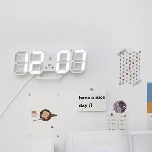 LED Clock Alarm Watch USB Charge Electronic Digital Clocks Wall Horloge 3D Dijital Saat Home Decoration Table Desk Clock WY526