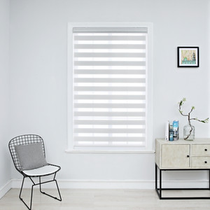 Zebra Blinds Horizontal Window Shade Double layer Roller Blinds Window Custom Cut to Size Curtains for Living Room T200718
