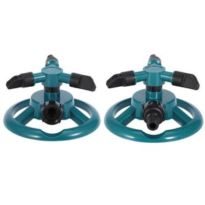 360 Degree Fully 3 Nozzle Circle Rotating Watering Sprinkler Irrigation System for Garden Pipe Hose Garden Tools