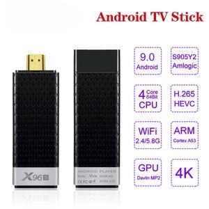 X96S Android 9.0 tv stick Amlogic s905Y2 Quad Core 4GB RAM 32GB ROM 2.4 5G WIFI BT4.2 4K Smart Media Player