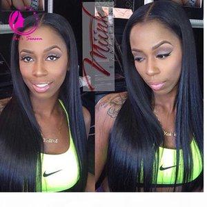 Human Hair U Part Wigs Brazilian Silky Straight Upart Wig Human Hair Middle Part For Balck Women