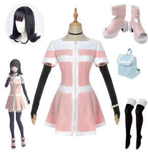 Anime Akudama Drive Swindler Cosplay Costume Dress Wig Shoes BagWomen Pink Dress Full Set Costume Halloween