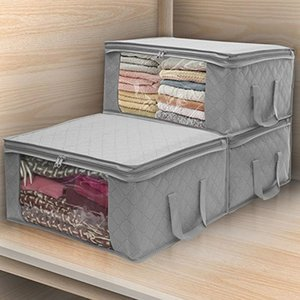 Foldable Storage Bag Organizers Great for Clothes Blankets Closets Bedrooms Y1130