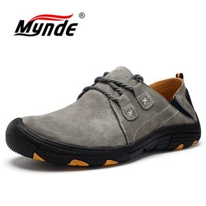 Mynde New Genuine Leather Casual Shoes Men Loafers Suede Men Shoes Breathable Outdoor Training Shoes Walking Zapatos sneakers LJ201023