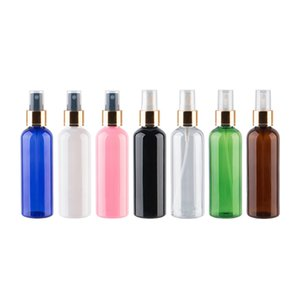 100ml X 30 Empty Makeup Setting Spray Pump Plastic Bottle With Gold Aluminum Collar 100cc Perfume Cosmetic PET Bottle Container