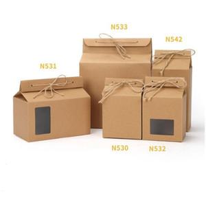 Caja de embalaje del té Cartulina Kraft Bolsa de papel plegado Comida de comida Caja de té Almacenamiento de alimentos Posto de la bolsa de embalaje de papel