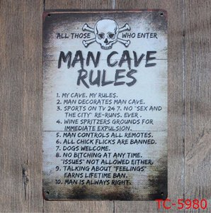 Metal Signs Romantic Poetry Tin Sign Vintage Letters Bar Painting Garage Coffee Store Home Decoration 40 Designs Optional WZW-YW3192