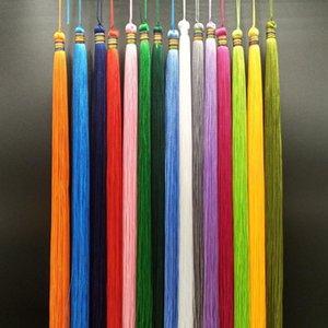 2pcs 33cm Très longue Baisse Tassel DIY Bijoux Home Rideau Textile Vêtement Décoratif Faire des charmes Pendentifs Pendentifs Tassels H QYLLHRHR