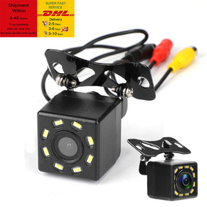 Car Rear View Camera Universal 8 LED Night Vision Backup Parking Reverse Camera Waterproof 170 Wide Angle HD Color Image