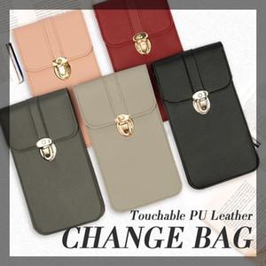 Mobile Phone Bag Wallet Transparent Touch Screen Simple Mobile Phone Bag Women Chain Messenger Bags Small Flap Mini Shoulder