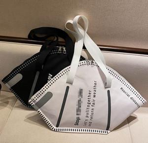 Diseño Creativo Máscaras Forma Bolsa de hombro Moda de gran capacidad Protección ambiental Bolso de mano Bolsas de almacenamiento Gifts LJJK2509