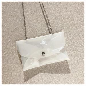 Women Transparent Handbag Shoulder Bag Clear Jelly Purse Clutch Tote PVC Satchel Bag Crossbody Girl Jelly Candy Shoulder