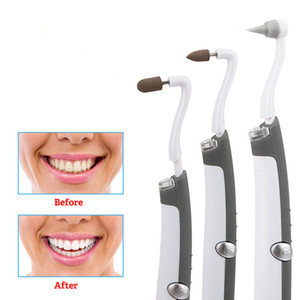 Tooth Stain Eraser Plaque Remover Tartar Cleaning Electric Teeth Polishing Whitening Vibration Dental Pick Care 3 Grinding Heads