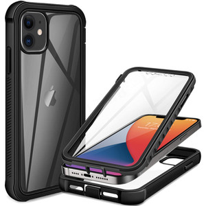 wholesale Full Body Screen Protector Transparent Case For iPhone 12 Pro Max Mini 11 Xs X Xr 6 6S 7 8 Plus SE2 Shockproof Phone Cover