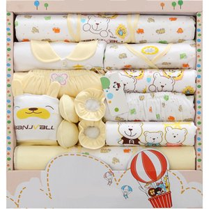 New Arrival Newborn Warm Clothes Cotton Suit Baby Supplies Gift Newborn Baby Underwear Supplies Baby Gift Bulk 18 Pcs Y200803