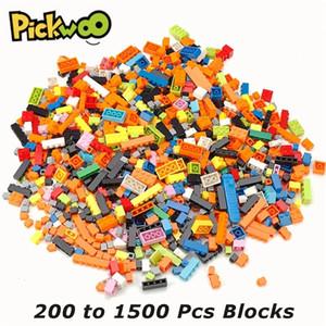 PickWoo 200 a 1000 PCS Marca clásica Bloques de construcción Ciudad DIY Ladrillos creativos Modelo a granel Figuras juguetes para niños Bloque de tamaño pequeño Q1222