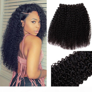 Quality Brazilian Remy Hair 3 Bundles Kinky Curly 100% Human Hair Extensions Factory Wholsale Price Unprocessed Straight Hair Weave