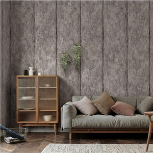 Retro cement gray industrial wind wallpaper stripes Nordic style living room bedroom background wall paper Home decoration