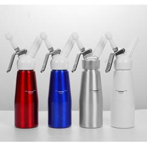 250ml Aluminium-Sahnepistole Frische Creme-Schaumstoff-Ladegeräte-Schaum-Schlag-Dessert-Creme-Dispenser Whipper-Kuchen machen Dekorationswerkzeug