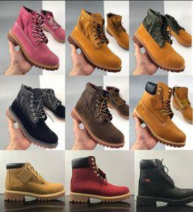 2020 Классические мужские сапоги дизайнер TBL Martin Женская кожаная обувь тренажеры со зимой ботинок лодыжки для ковбоя желтый военный тройной белый BLA B46J #