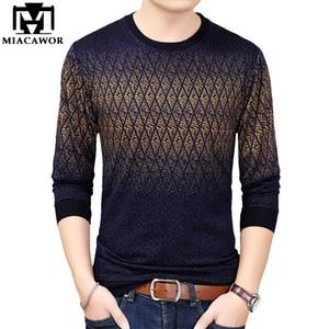 New Men t shirts Fashion Knitwear tshirts Men Spring Long sleeve Casual Tee shirt Homme Camiseta Masculina Tops & Tees T843 201201