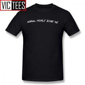 Hombre American Horror Story T Shirts Normal People Pase Me asustan la camiseta Básica Impresionante Tee Shirt 100% algodón Tshirt Oversized 1118