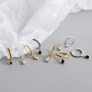 Non-Pierced Clip On Cross Dangle Drop Earring for Women No Piercing Hoop Hinged Earrings Fashion Rhinestone Earring Xmas Gift Kimter-K29FA