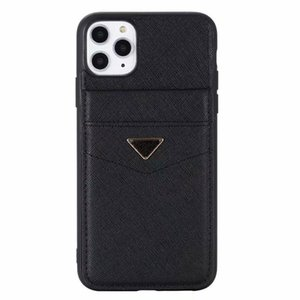 Модный дизайнер телефон для iPhone7 / 8 7p / 8p x xr xsmax 11 12pro 12promax 12mini роскошные кожаные карточки карманные чехлы