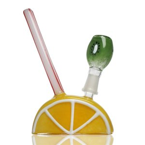Glass bong fruit creative dab oil rig smoking water pipe lemon kiwi hookah bubbler mini smoking bong