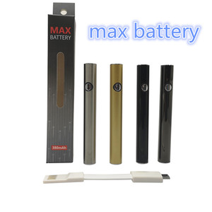 Amigo Max Battery Vape Pen Cartridges Preheat Battery 510 Thread 380mah Voltage Bottom with USB Charge E Cigarette Vaporizer Pen