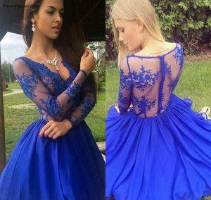 New Cheap Royal Blue Short Homecoming Dress A Line Knee Length Juniors Sweet 15 Graduation Cocktail Party Dress Plus Size