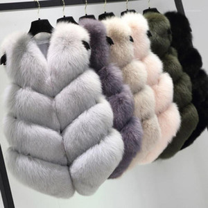 MIARHB Vest Women Brand Slim Vest Like Womens Gilet Outwear Warm Faux Fur Waistcoat Jacket Coat Women Winter Fashion 8z1