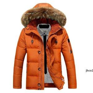 JH Mens Winter Jackets Coats Thick Warm Parkas Overcoat White Duck Down Jacket Male Windbreaker Down Coats M -3xl