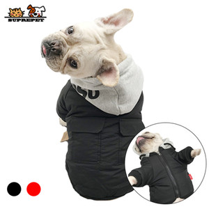 SUPREPET Pet Dog Jacket Winter Dog Clothes for French Bulldog Warm Cotton Dog Winter Coat Hoodie for Chihuahua ropa para perro Q1206