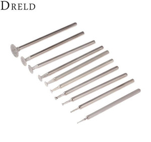 Tools Dreld 10pcs Dremel Accesories 2.35mm Shank Diamond Mounted Point Grinding Head Stone Jade Carving Polishing jllbzF mxyard