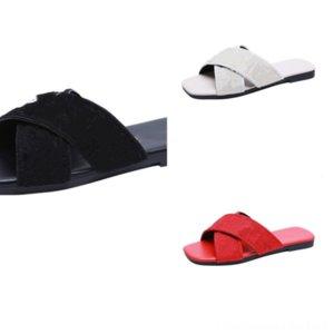 rorwc nouvelle usure luxe design de designer rouge pantoufles de ballet maison pantoufles pour femmes d'intérieur Été anti-glissement Hommes Arrivée Été Accueil Couple Mode
