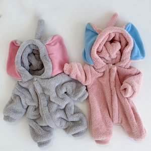 Baby Rompers Plus Velvet Infant Boys Girls Jumpsuits Winter Warm Comfortable Newborn Baby Overalls Toddler Kids Cute Playsuits Z1128