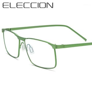 Eleccion Frame Frame نظارات للرجال New Myopia Pubical Foundriestes النظارات إطارات الذكور النظارات الحافة الكاملة 58 - 14 - 1351