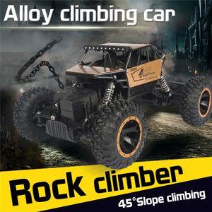 1 16 RC Car 4WD climbing Car Rock Crawler 4x4 Double Motors Drive Bigfoot Car Remote Control Model Vehicle Toys For Boys Kids
