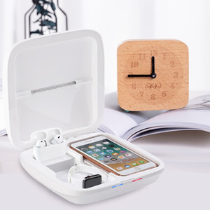 Wireless charger disinfection box Mask UV Sanitizer Disinfection Sterilising Trays Phone Cleaner Uv Sterilizer Box Portable Cell Phone S