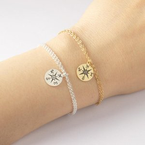 GORGEOUS TALE 2020 Vintage Compass Charms Unique Design Stainless Steel Bracelets Bangles Women Charming Compass Bracelet Bijoux