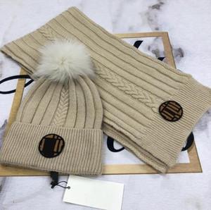 Роскошные - дизайнеры мужские женские вязальные шапки шарфы наборы Casquette Beanie Hats Bonnet de Cappelli Firsti Caps F02