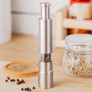 Руководство Pepper Mill солонка Одноручного Pepper Grinder из нержавеющей стали для специй Соуса Измельчителей Стик инструментов кухня GWD3037