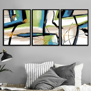 Abstract color Canvas Wall Art Painting Decor 3 Panels Framed Canvas Prints Artwork Ready to Hang Home Decorations Office Decor Gift