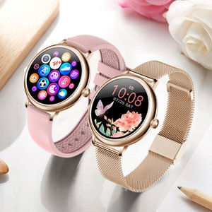New Stylish Women's Smart Watch Luxury Waterproof Wristwatch Stainless Steel Casual Girls Smartwatch For Android iOS