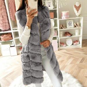 Fashion Winter coat women Faux Fur Gilet Vest Sleeveless Waistcoat Body Warmer Jacket Coat Outwear chaquetas mujer 2021