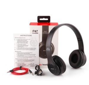 Sport P47 Cuffie Bluetooth Gaming Headset Riduzione del rumore Riduzione intelligente Audio Audio Audio Auricolare pieghevole senza fili con microfono